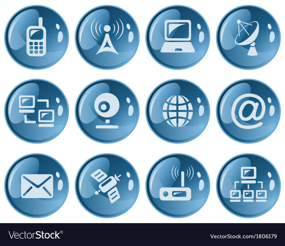 Communication buttons vector | Price: 1 Credit (USD $1)