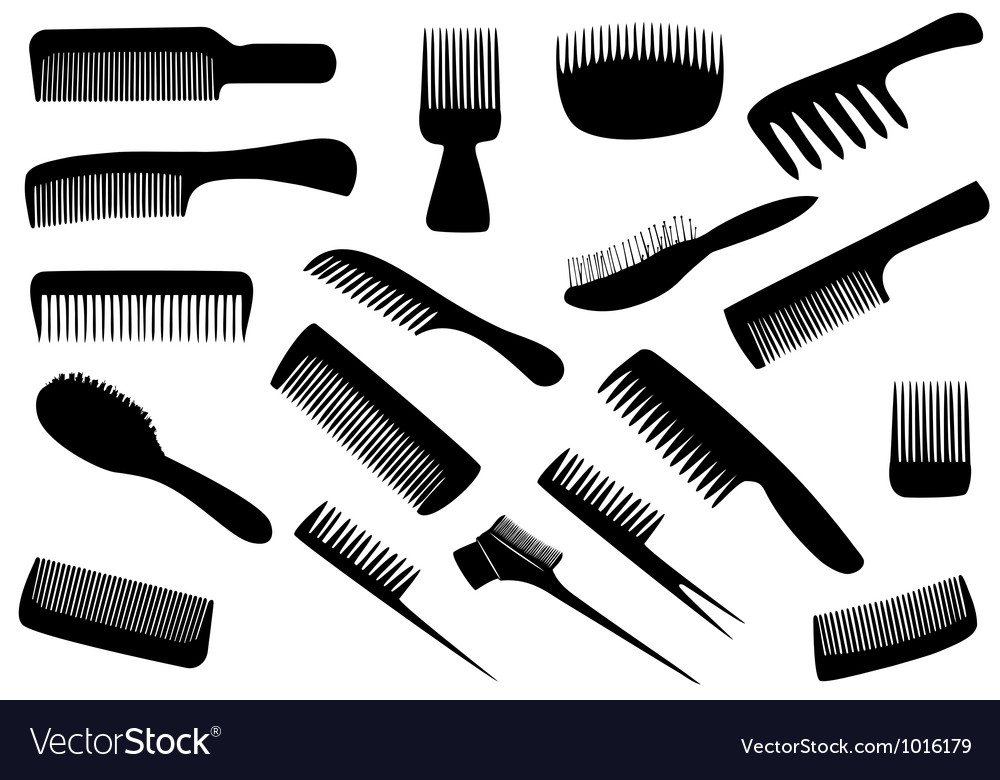Hairdresser tools isolated on white vector | Price: 1 Credit (USD $1)