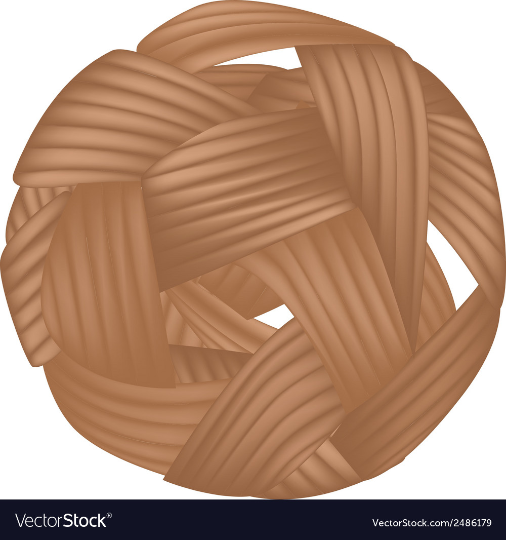 Rattan ball or takraw on white background vector | Price: 1 Credit (USD $1)