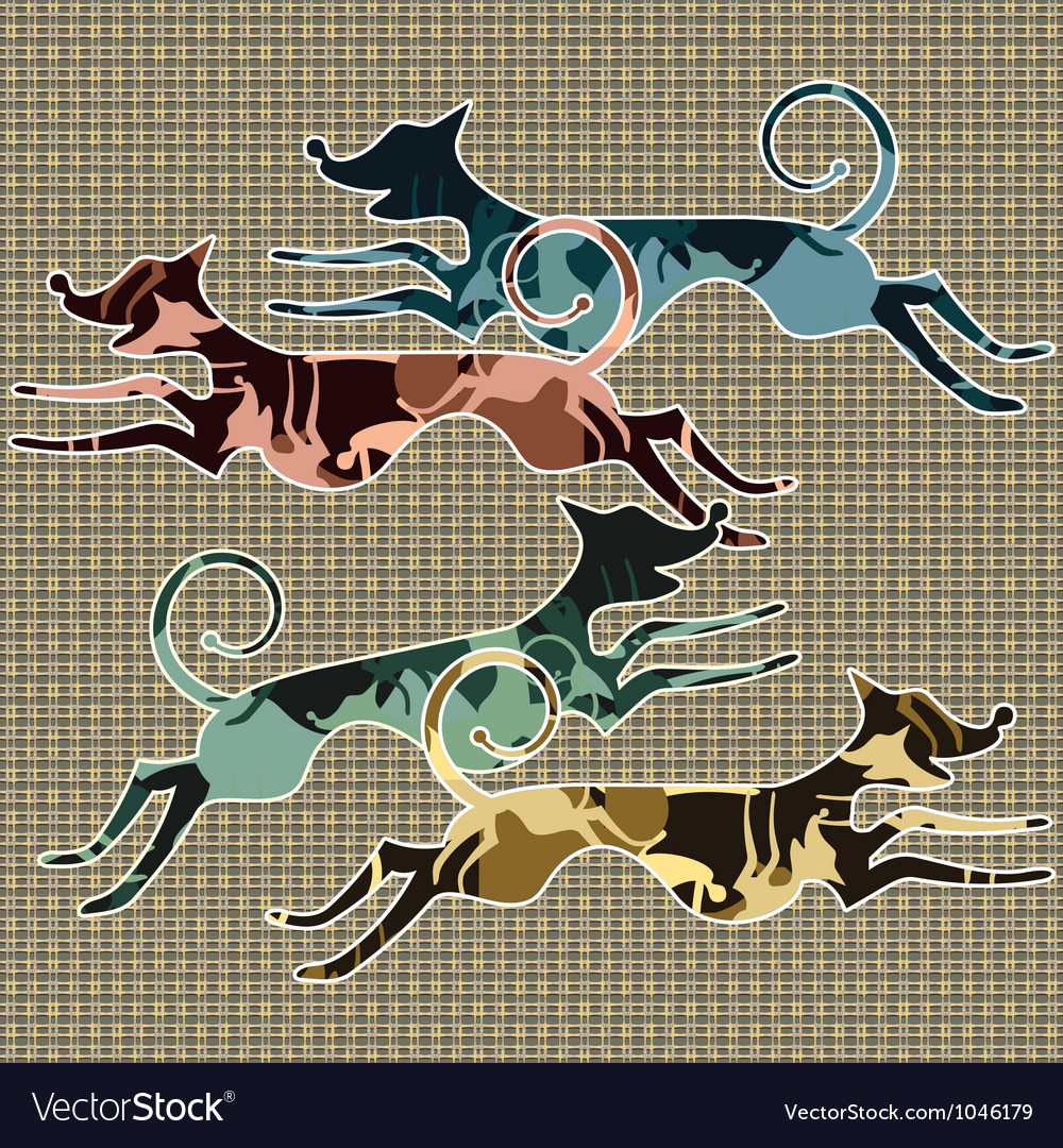 Running animals vector | Price: 1 Credit (USD $1)