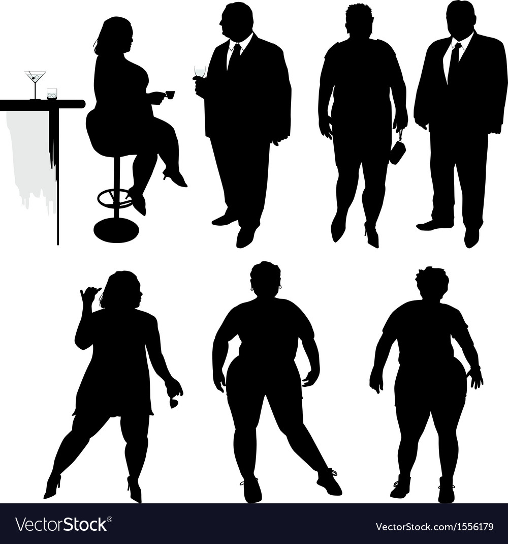 Several obese people in the bar vector | Price: 1 Credit (USD $1)