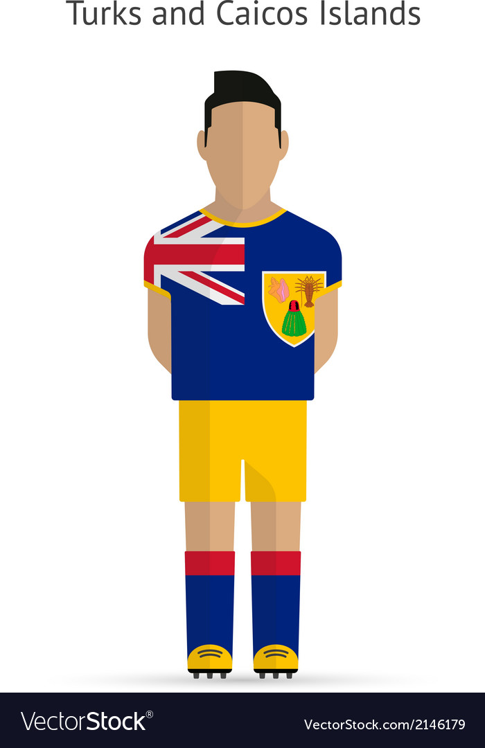 Turks and caicos islands football player soccer vector | Price: 1 Credit (USD $1)