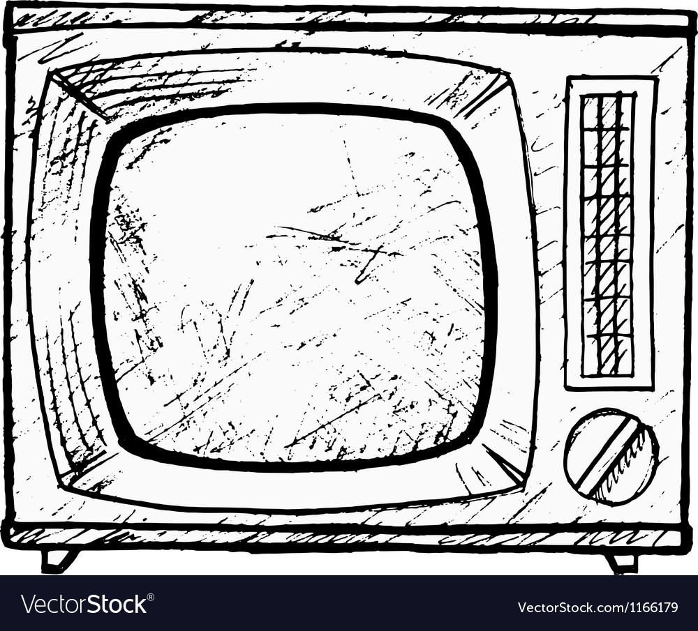 Vintage tv set vector | Price: 1 Credit (USD $1)