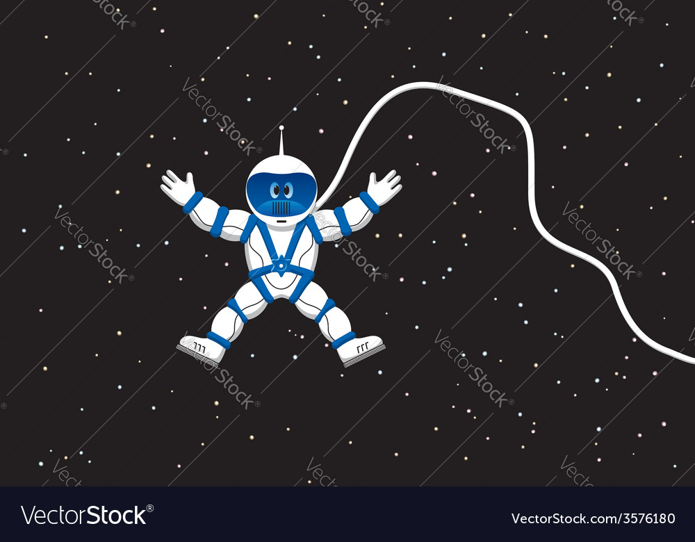 Astronaut in outer space vector | Price: 1 Credit (USD $1)