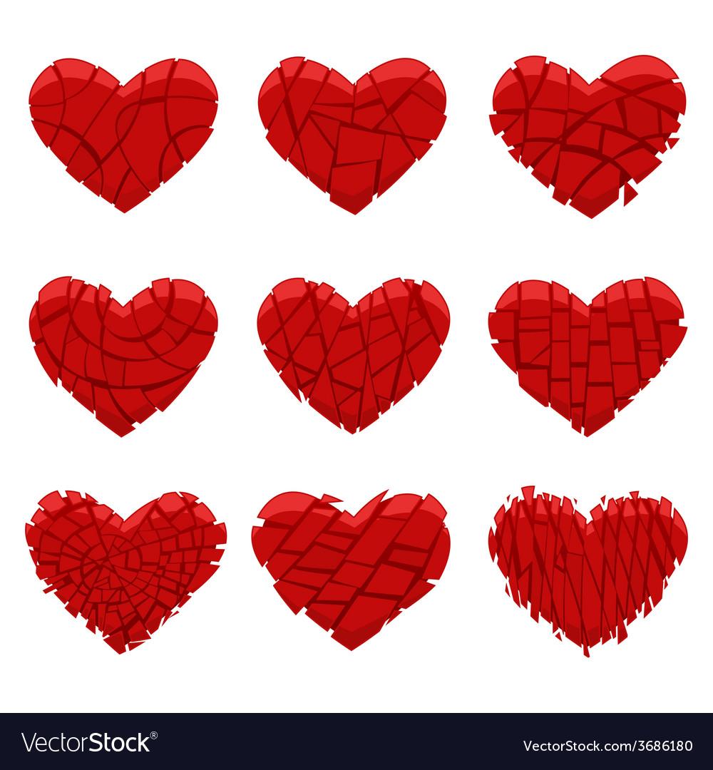 Broken red heart vector | Price: 1 Credit (USD $1)