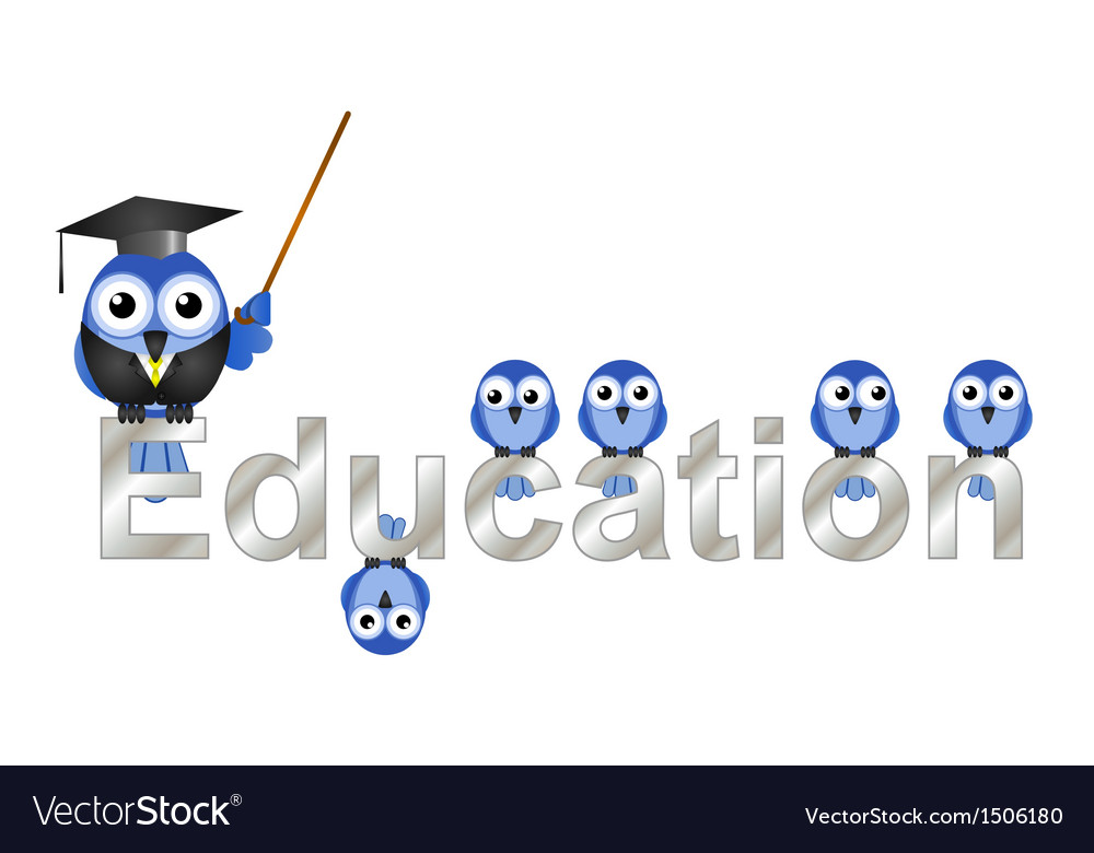 Education text vector | Price: 1 Credit (USD $1)