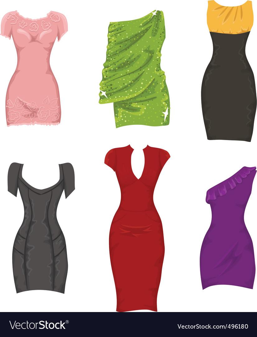 Female dresses vector | Price: 1 Credit (USD $1)