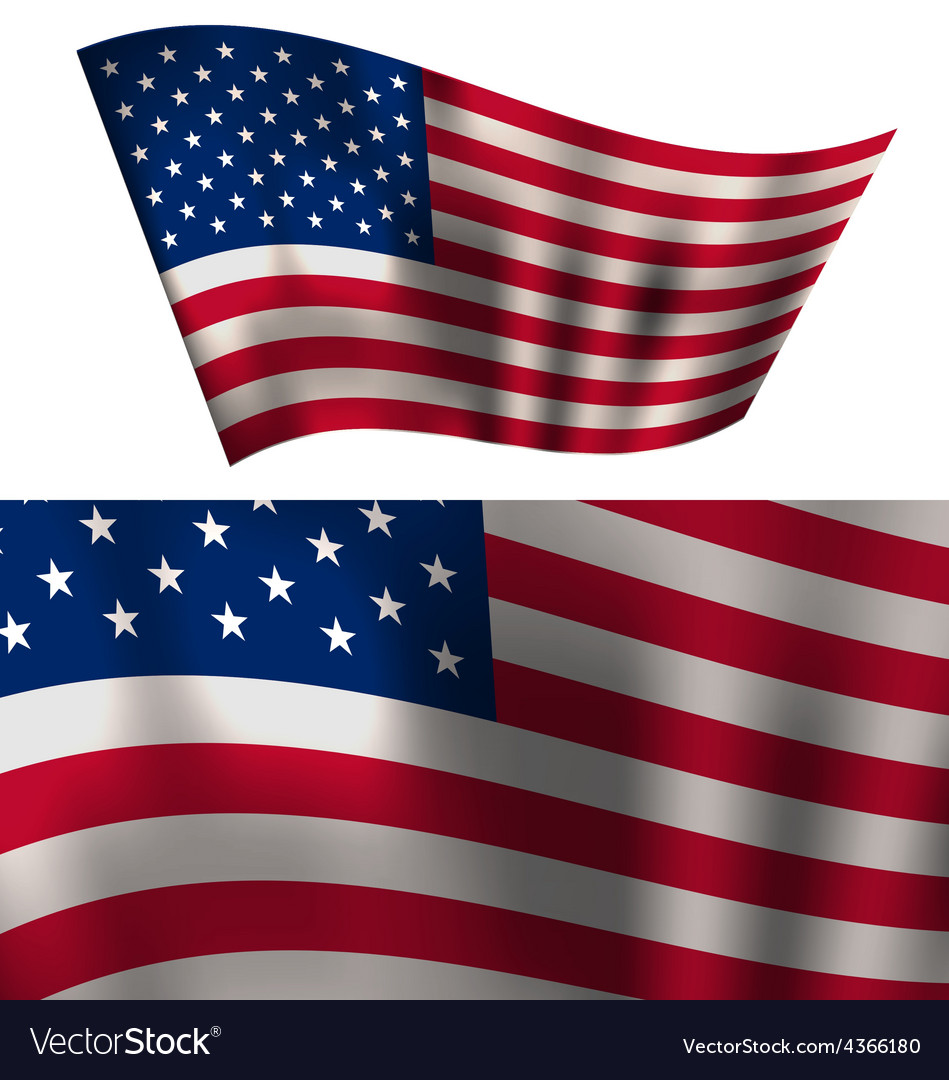 Flags usa stars and stripes for independence day vector | Price: 1 Credit (USD $1)