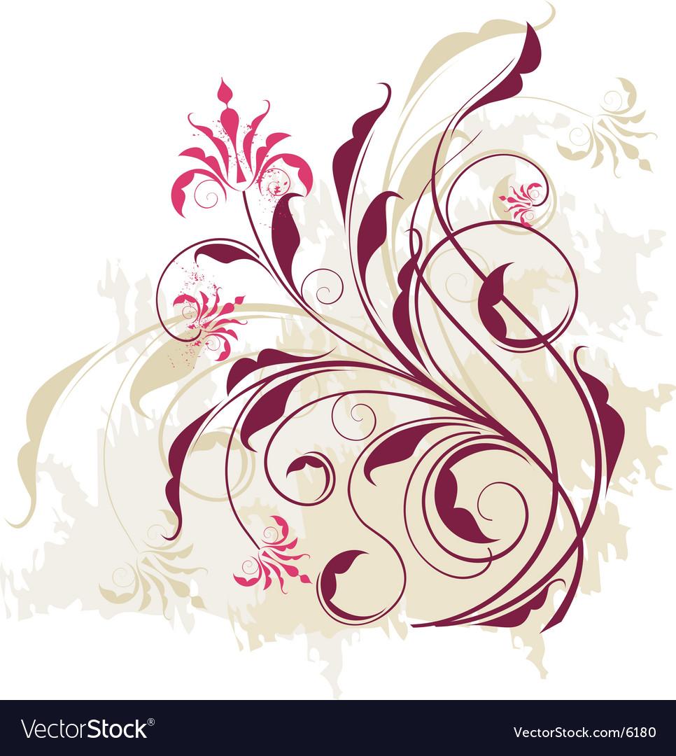 Floral vine graphic vector | Price: 1 Credit (USD $1)