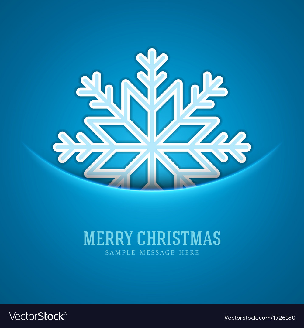 Merry christmas card and snowflake decoration vector   Price: 1 Credit (USD $1)