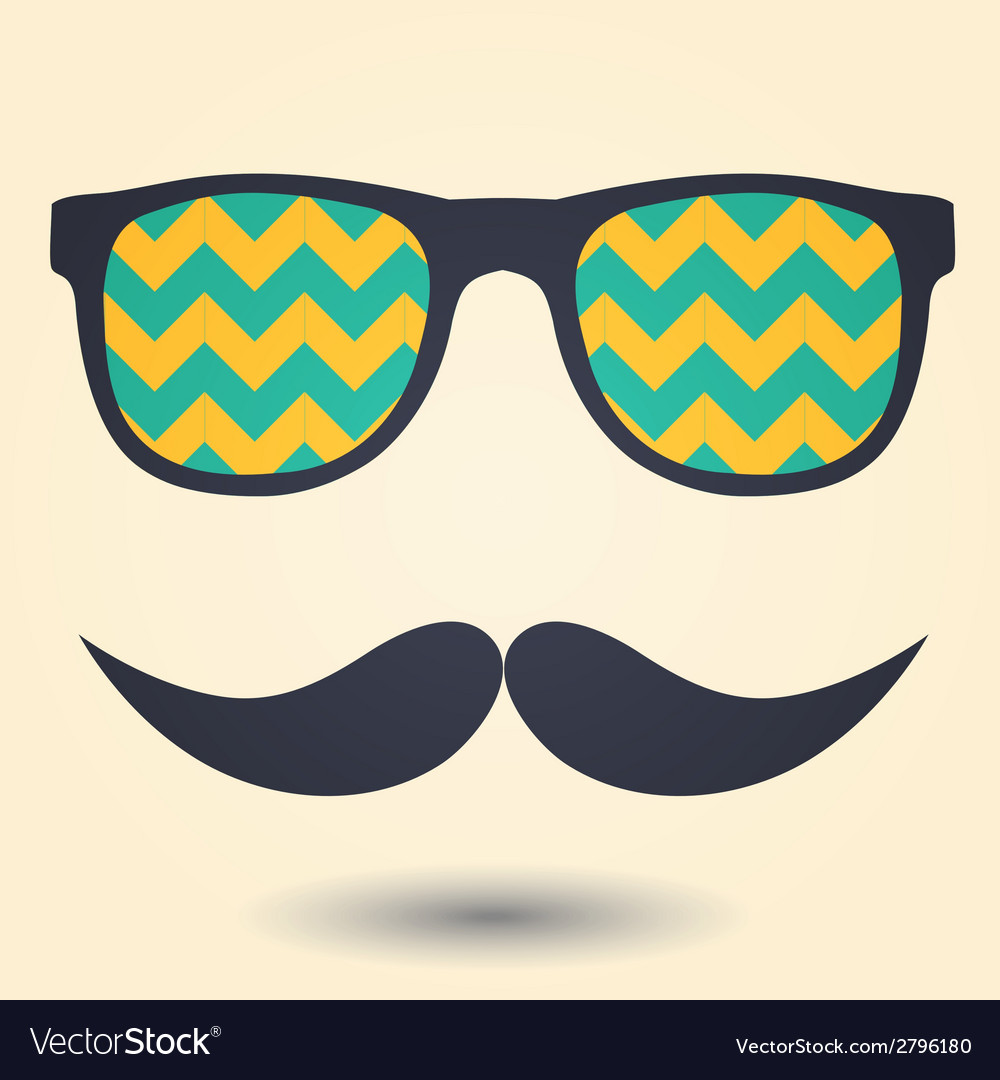 Mustache and glasses icon vector | Price: 1 Credit (USD $1)
