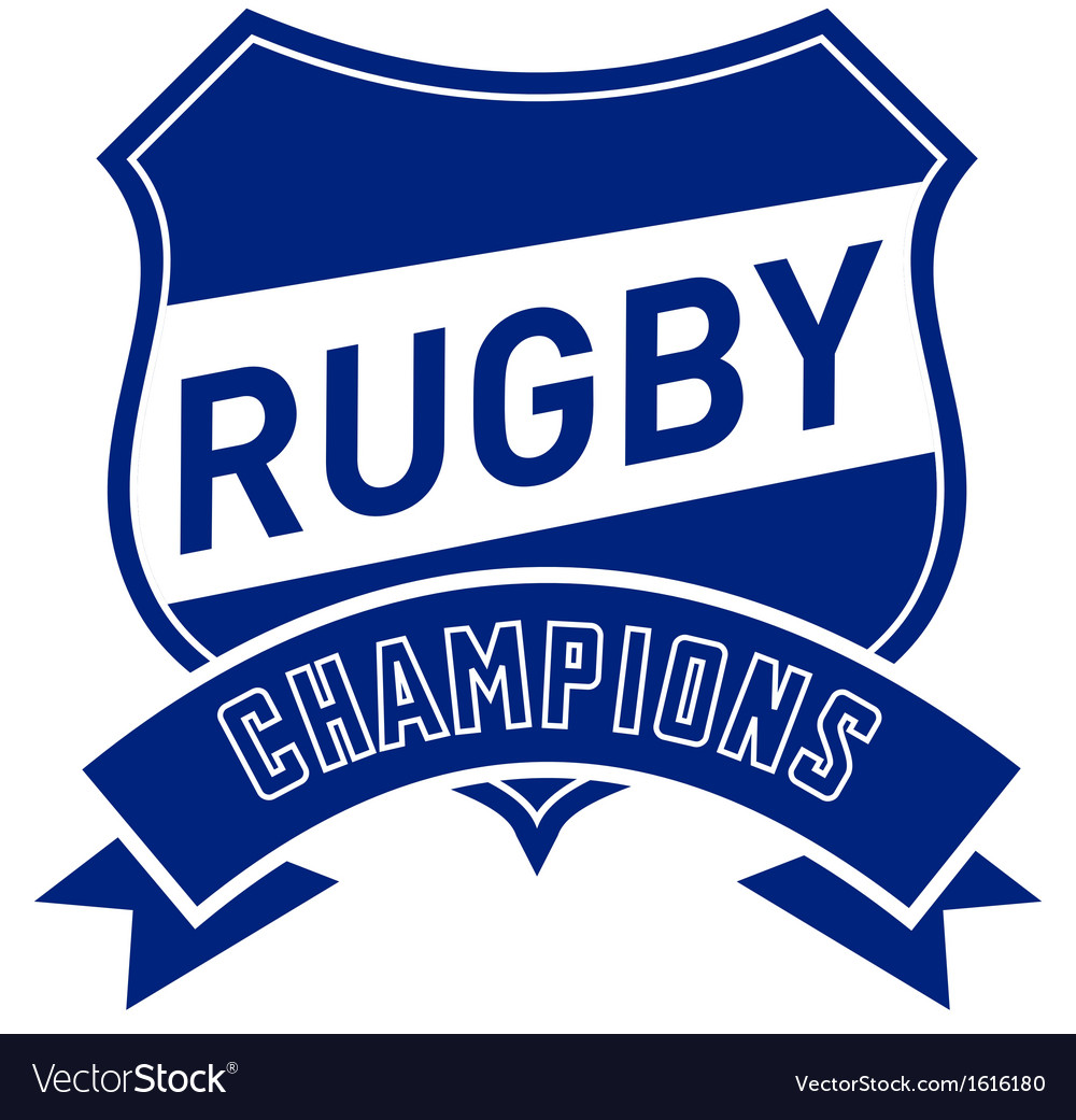 Rugby champions shield vector | Price: 1 Credit (USD $1)