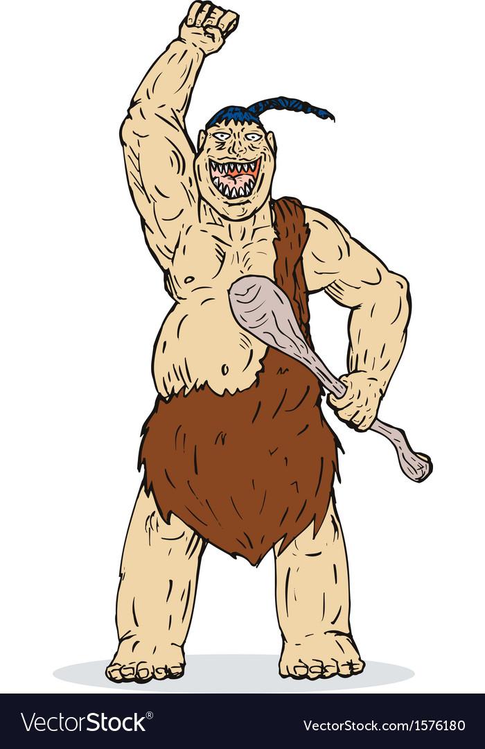 Super hero caveman vector | Price: 1 Credit (USD $1)