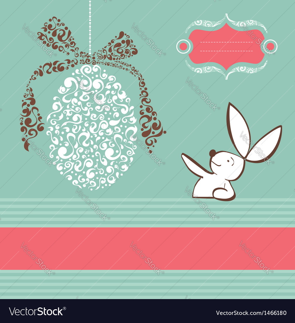 Tribal egg easter bunny background vector | Price: 1 Credit (USD $1)