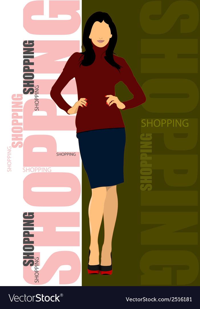 Al 0243 shopping 02 vector | Price: 1 Credit (USD $1)
