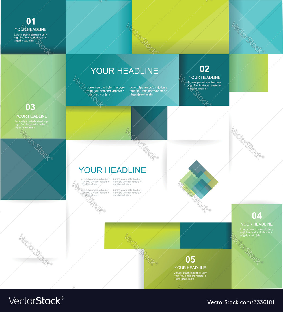 Brochure template design with cubes and squares vector | Price: 1 Credit (USD $1)