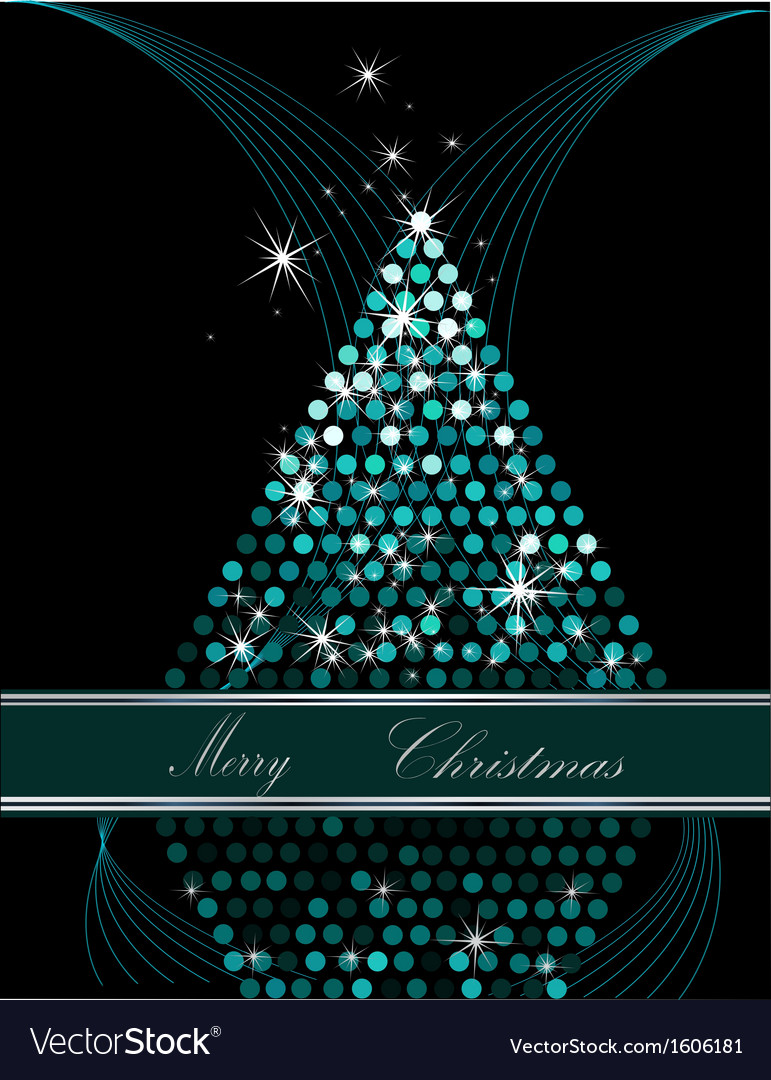 Christmas tree blue and silver vector | Price: 1 Credit (USD $1)