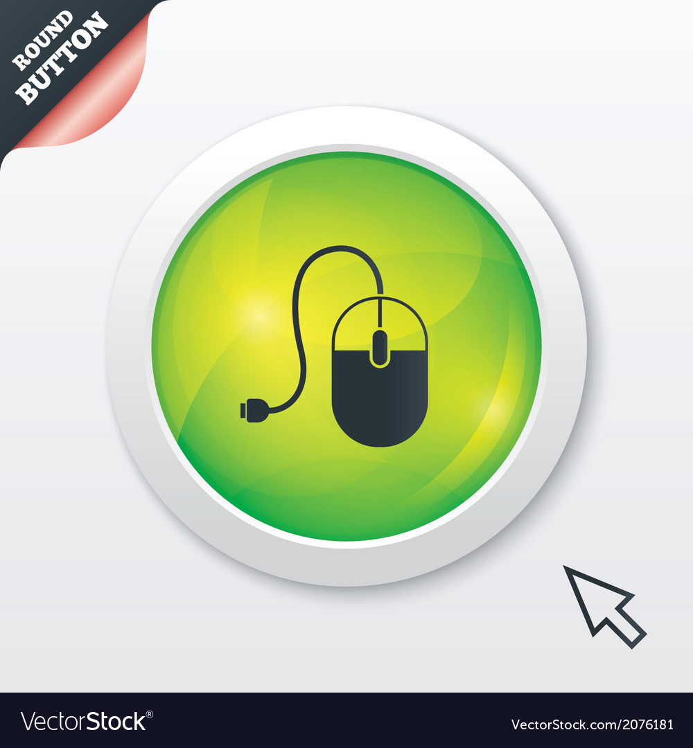 Computer mouse sign icon optical with wheel vector | Price: 1 Credit (USD $1)