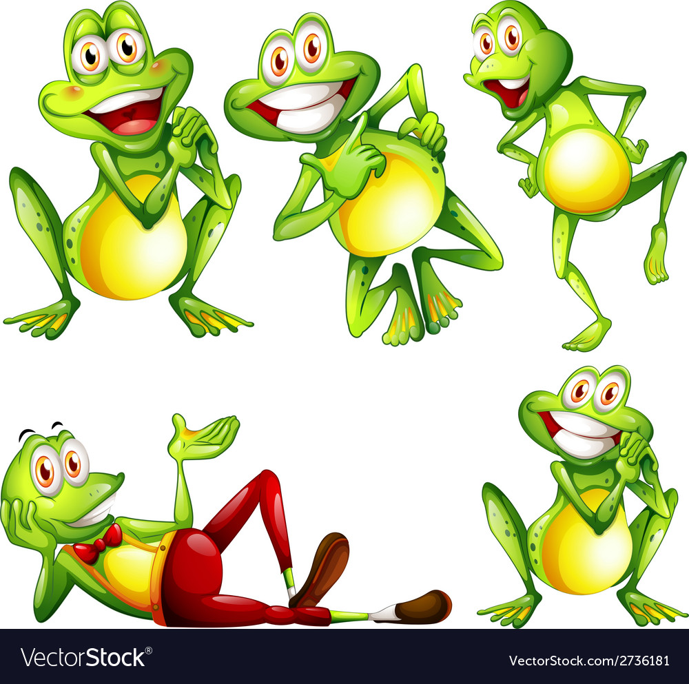 Frogs vector | Price: 1 Credit (USD $1)