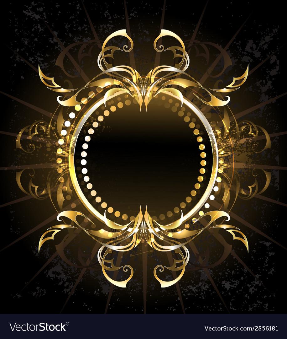 Golden tribal frame vector | Price: 1 Credit (USD $1)
