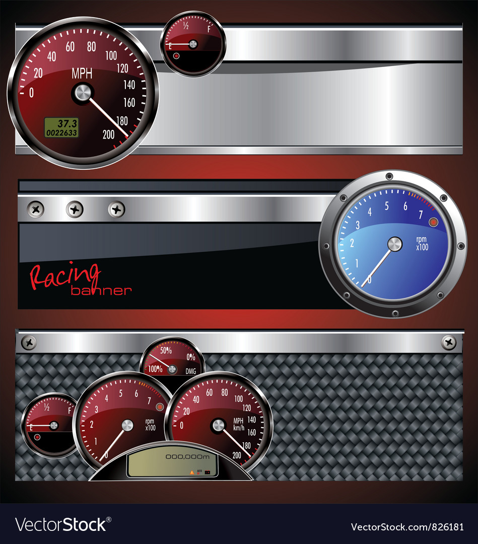 Racing banners vector | Price: 1 Credit (USD $1)