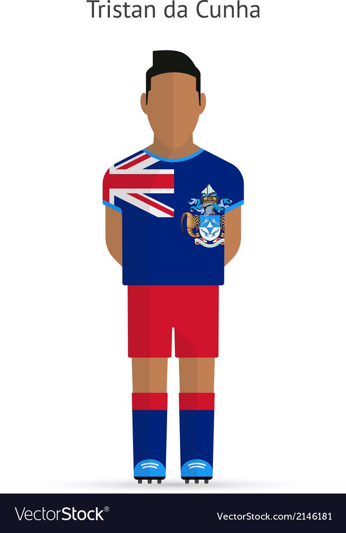 Tristan da cunha football player soccer uniform vector | Price: 1 Credit (USD $1)