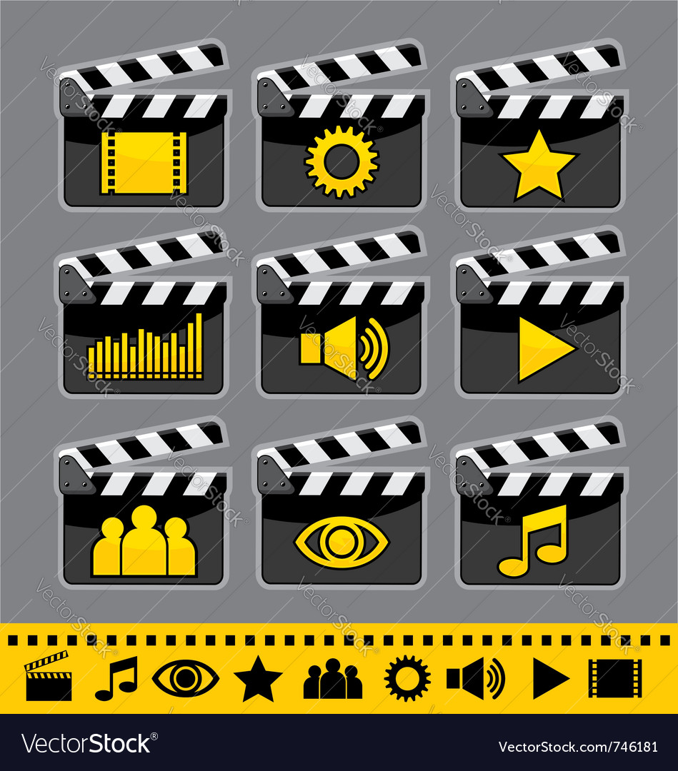 Video and audio icons set vector   Price: 1 Credit (USD $1)