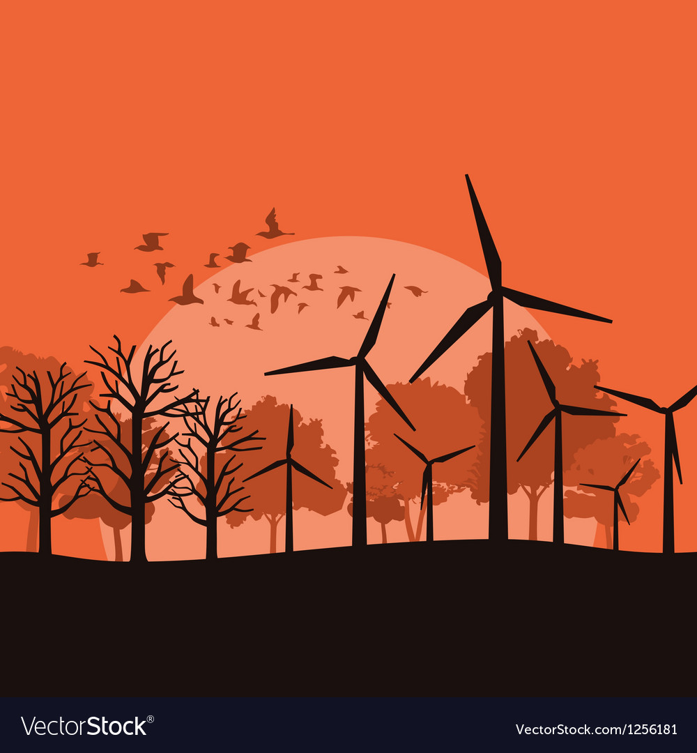 Wind power vector | Price: 1 Credit (USD $1)