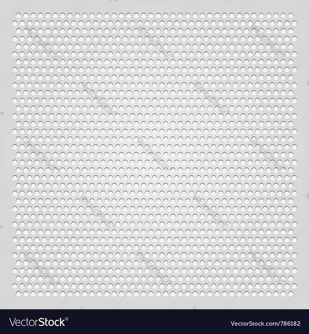 Background gray perforated sheet vector | Price: 1 Credit (USD $1)