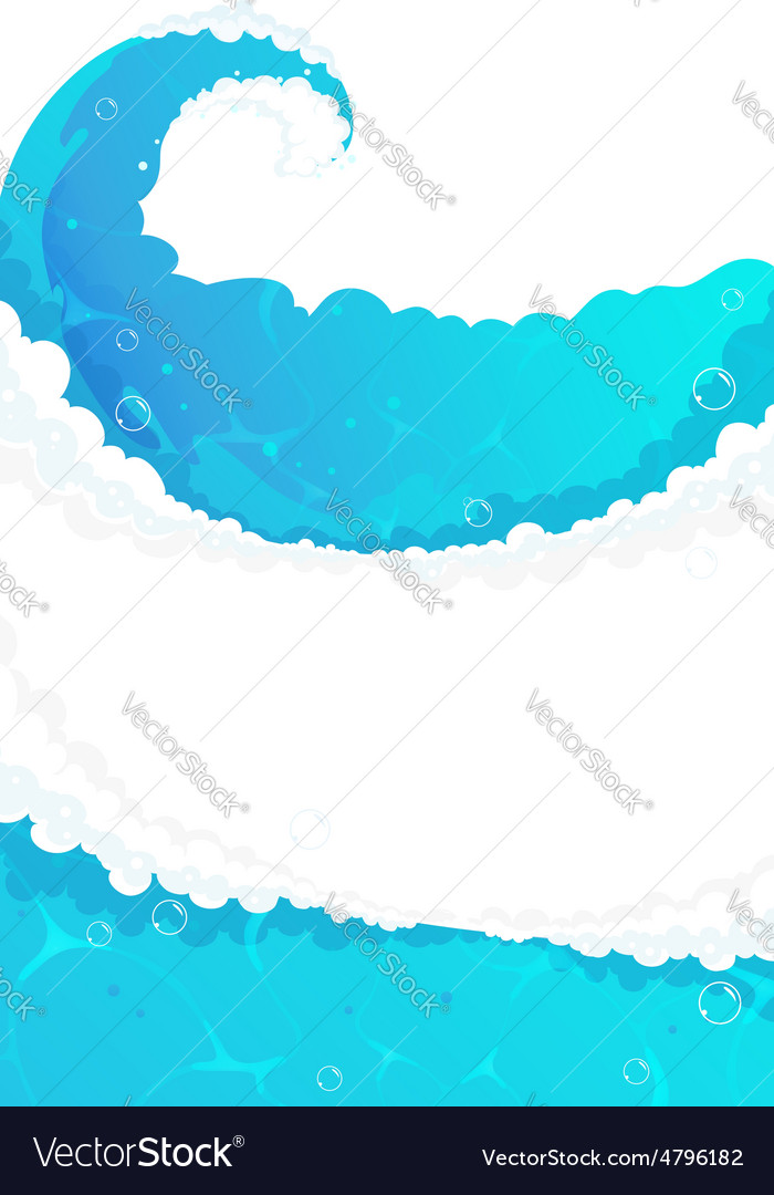 Blue water frame vector | Price: 3 Credit (USD $3)
