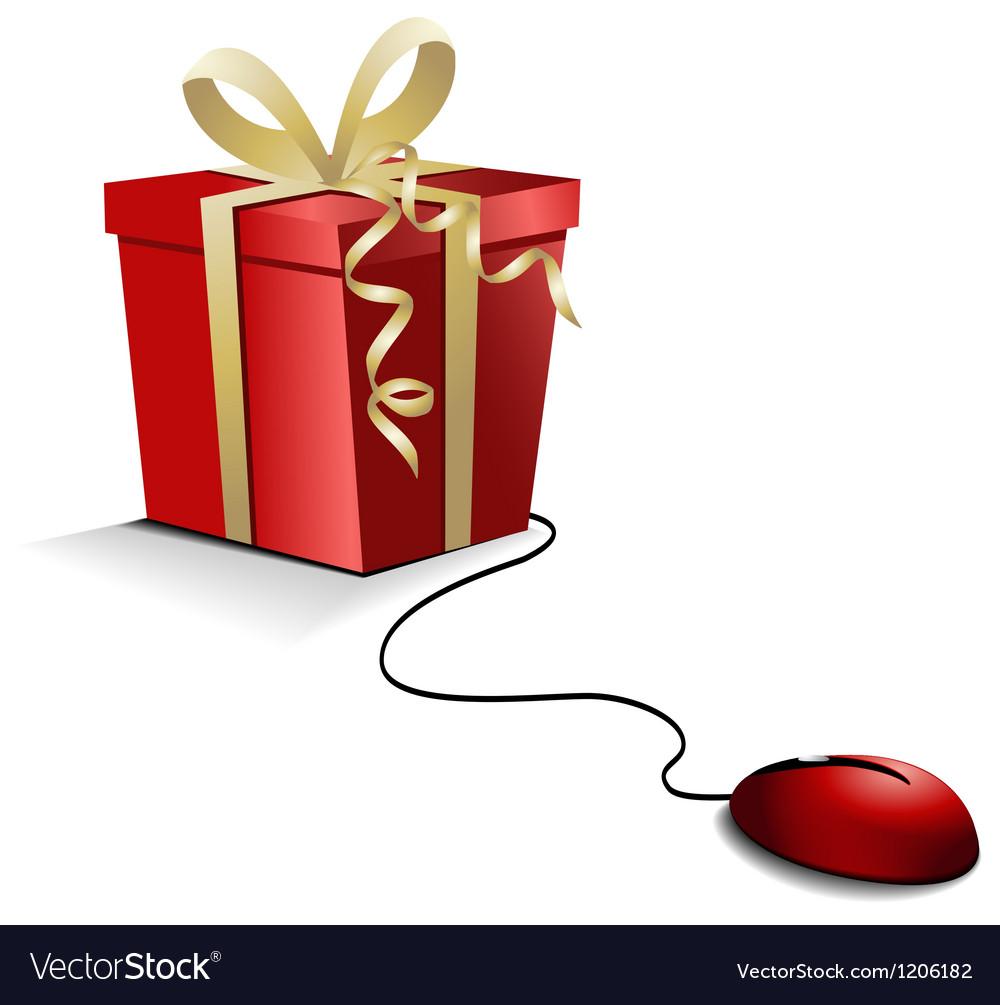 Christmas e-shopping vector | Price: 1 Credit (USD $1)