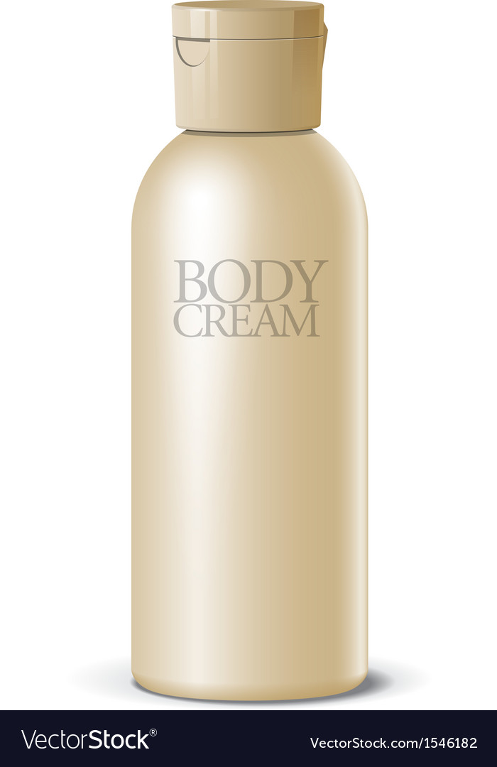 Cool realistic blank bottle for cosmetics vector | Price: 1 Credit (USD $1)