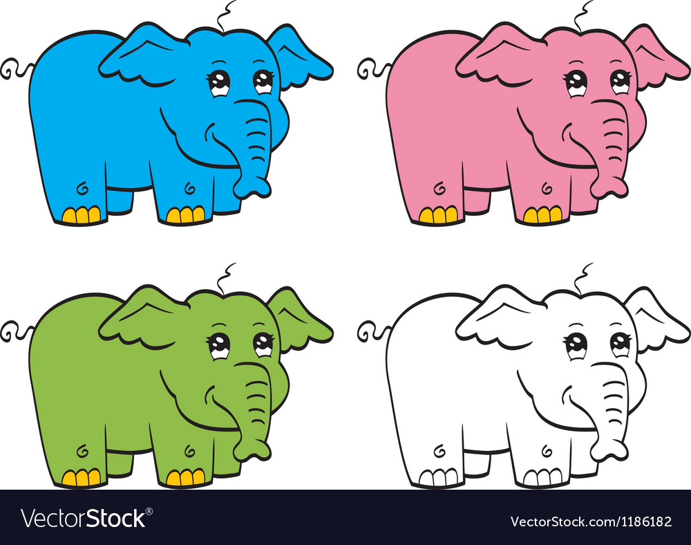 Cute cartoon elephant vector | Price: 1 Credit (USD $1)