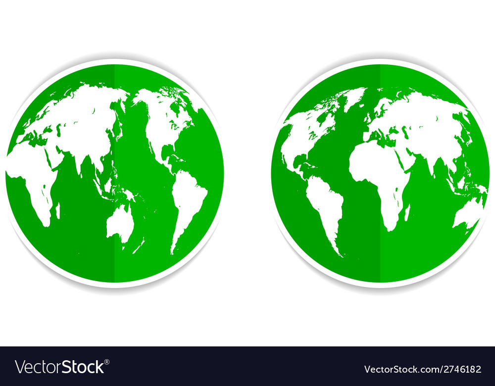 Earth green vector | Price: 1 Credit (USD $1)