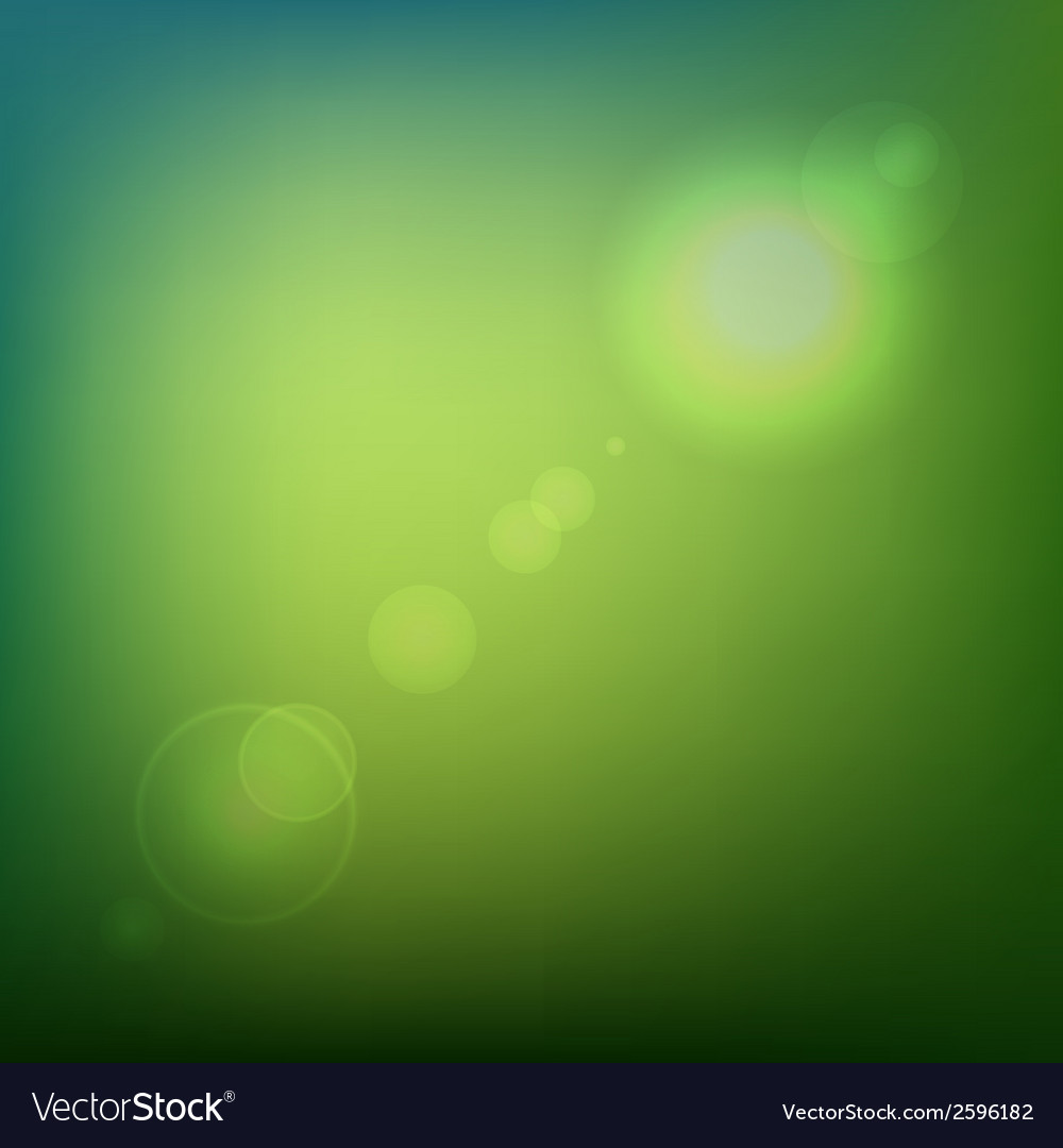 Green soft colored abstract background with lens vector | Price: 1 Credit (USD $1)