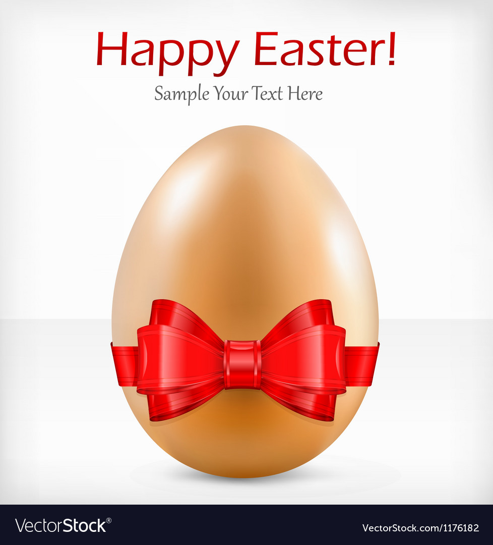 Happy easter red ribbon vector | Price: 1 Credit (USD $1)