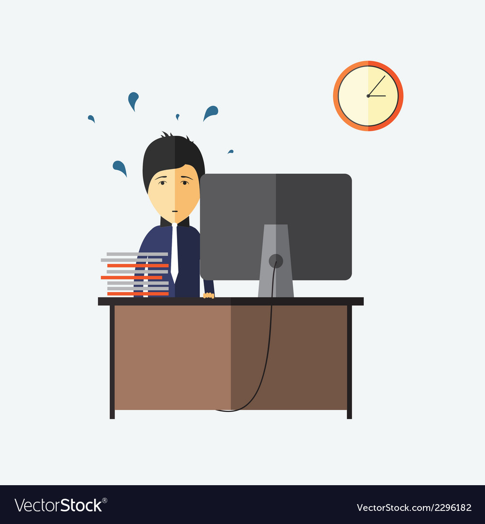 Stress at work deadline vector | Price: 1 Credit (USD $1)