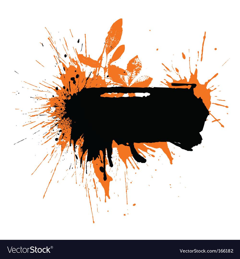 Text blot watercolor vector | Price: 1 Credit (USD $1)