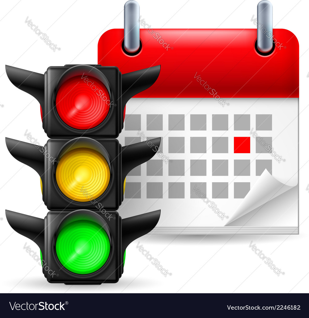 Traffic lights and calendar vector | Price: 1 Credit (USD $1)