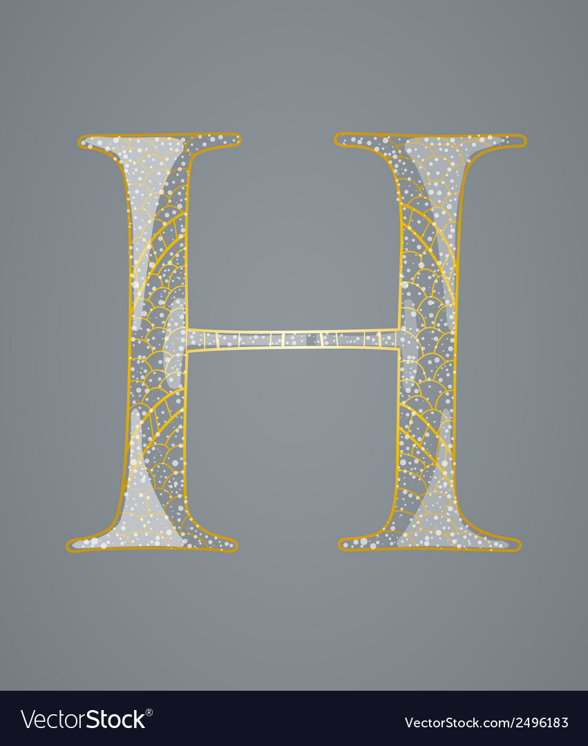 Abstract golden letter h vector | Price: 1 Credit (USD $1)