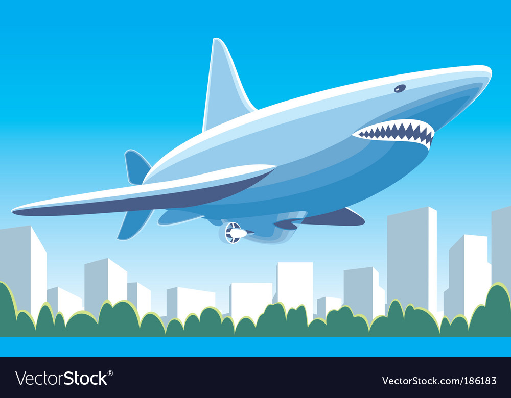 Airship shark vector | Price: 1 Credit (USD $1)