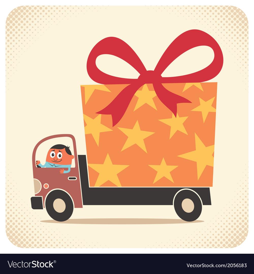 Bringing gift card vector | Price: 1 Credit (USD $1)