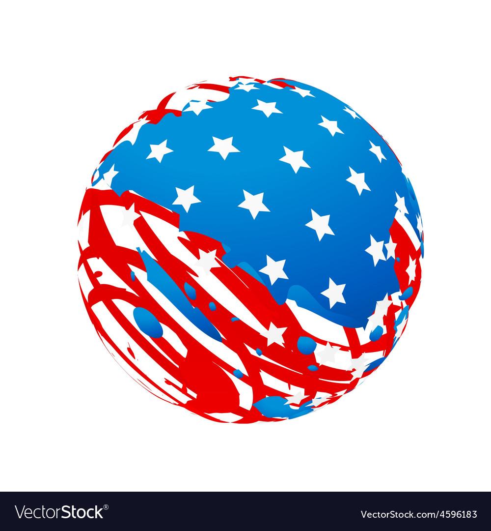 Creative american flag vector | Price: 1 Credit (USD $1)