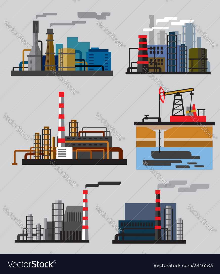 Industrial building factory vector | Price: 1 Credit (USD $1)