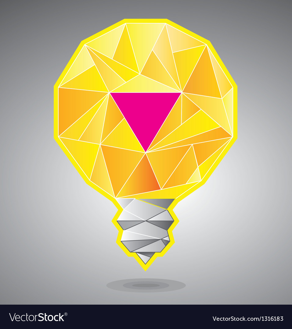 Light bulb with magenta accent vector | Price: 1 Credit (USD $1)