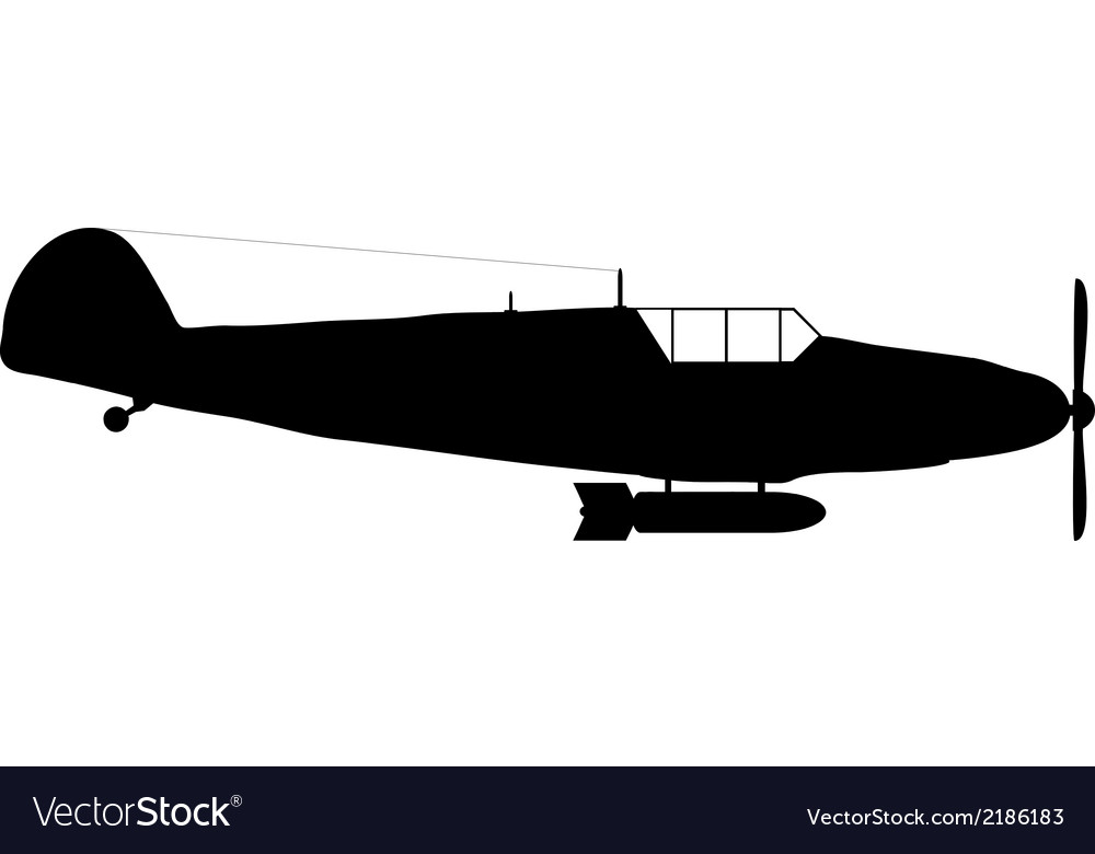 Old military aircraft vector | Price: 1 Credit (USD $1)