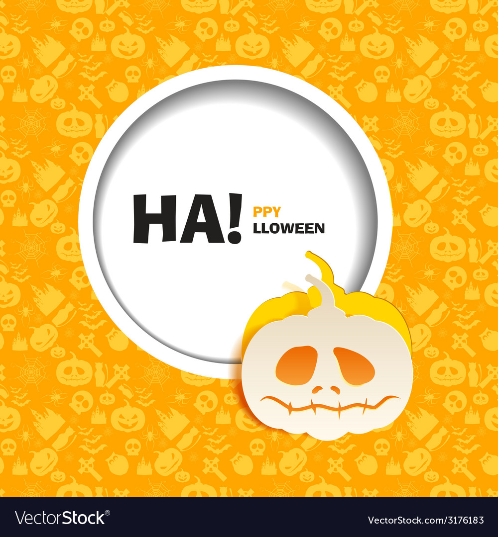 Orange seamless patterns for a happy halloween vector | Price: 1 Credit (USD $1)