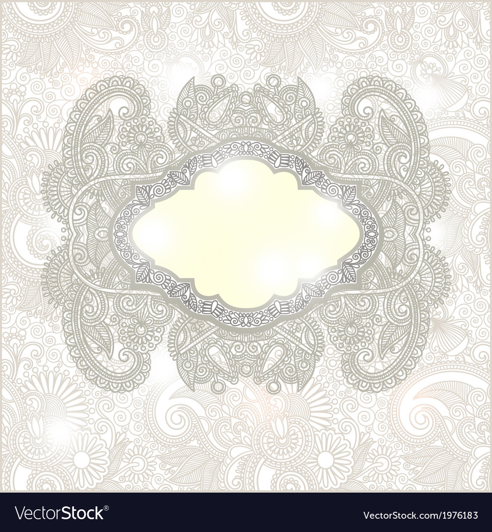 Ornate floral background invitation vector   Price: 1 Credit (USD $1)