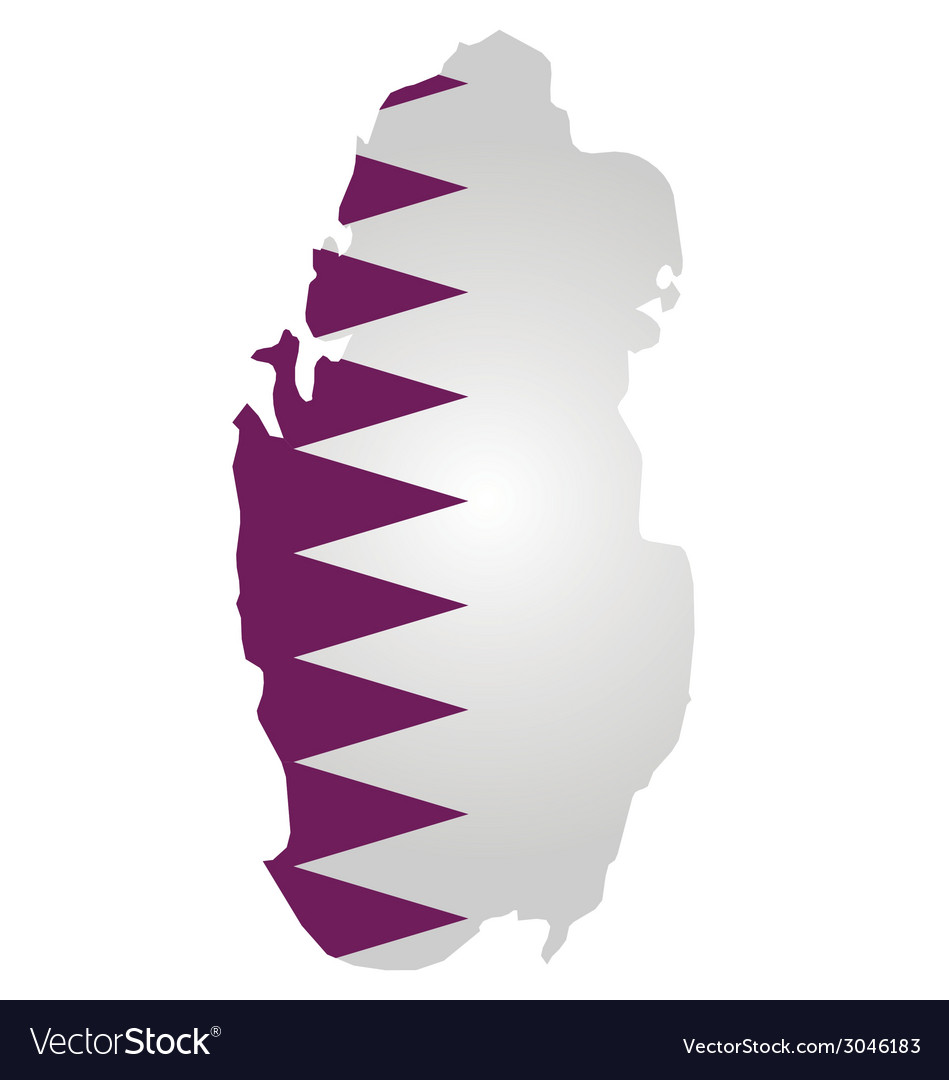 Qatar flag vector | Price: 1 Credit (USD $1)