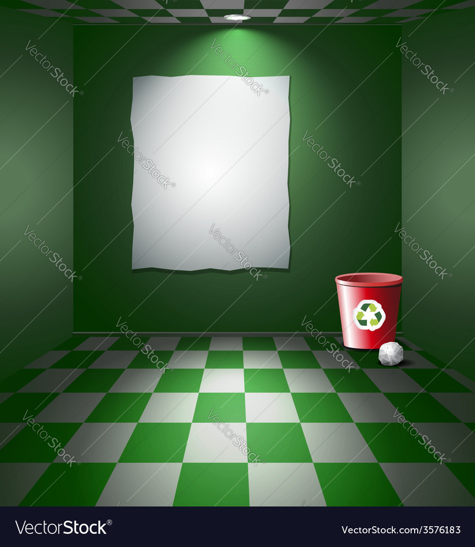 Room with recycle bin vector | Price: 3 Credit (USD $3)